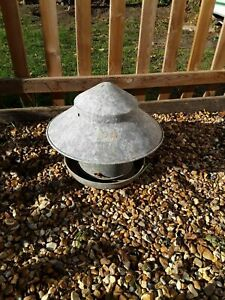 Large Eltex galvanised Poultry Feeder with Top Hat/Rain Hat