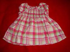 Bluse * Tunika * Shirt * rosa kariert * Gr. 68 * H&M LOGG