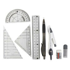 Set ruler scale compass Rapporteur pencil eraser for school entry LW