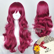 Akatsuki no Yona Princess Beautiful Long Wavy Dark Red Cosplay Wig Hair