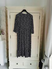 Zara Black And White Polka Dot Spotted Dress  Size SBNWT.