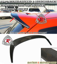 MS-Style Add-on Roof Spoiler Wing (Carbon) Fits 07-09 MazdaSpeed 3 5dr