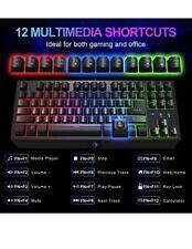 NPET G20 Compact Gaming Keyboard, 87 Keys Backlit Mechanical Feeling Computer