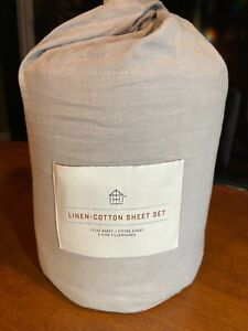 Linen Blend with Hem Stitch Sheet Set - Hearth & Hand™ with Magnolia free ship