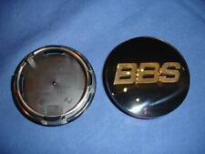 4x BBS LM/XA/RX Emblem Felgendeckel 70mm Schwarz Gold 3D 56.24.120 Felgendeckel