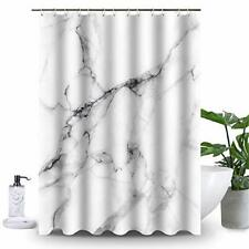 Uphome Marble Shower Curtain for Bathroom White and Gray Fabric Shower Curtain S
