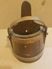 Vintage Wood Basket to Hang on Wall