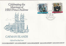 (21255) Cayman Islands FDC Prince Andrew Fergie Royal Wedding 23 July 1986