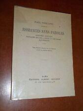 """""""ROMANCES SANS PAROLE"""" (1947) PAUL VERLAINE / POESIE"""
