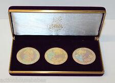 Precious Moments Collectors Club Commemorative Medallions - 3 Pc Set