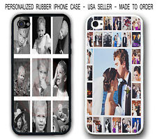 PERSONALIZED PHOTO COLLAGE RUBBER CASE COVER CUSTOM IMAGE COVER FOR IPHONE 6 6S