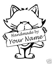 UNMOUNTED PERSONALIZED Handmade CUSTOM  RUBBER STAMPS H85