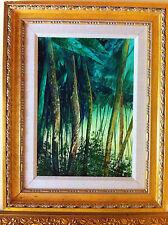 "Original oil painting by Italian artist, Mario Soave ""Tropicale"" , BEAUTIFUL"