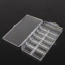 1 Pump Plastic Empty Container Case Box for Nail Art Charms Tips/Rhinestones
