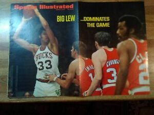 Sports Illustrated 1970 LEW ALCINDOR Milwaukee BILLY CUNNINGHAM 76ers NO LABEL
