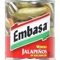 EMBASA, PEPPER JALAPENO WHL, 26 OZ, (Pack of 6)