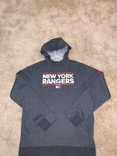 (L) New York Rangers Adidas Long Sleeve Hoodie Squad Sweatshirt NWT $100