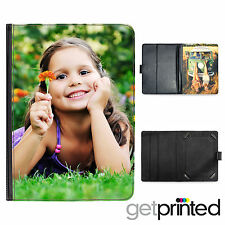 Personalised New iPad 2 3 4 Leather Flip Case Cover Custom Photo Create Your Own