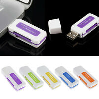 2PCS Portable 4 in 1 Memory Multi Card Reader USB 2.0 for SD/TF Card Tool HOT