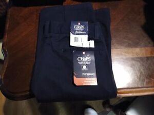 Boys Chaps Navy Uniform Pants!  Size 16 Husky! NWT!