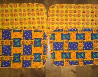 Reversible Quilted Placemats, set of 4  Halloween Fall AutumnTheme Pumpkin