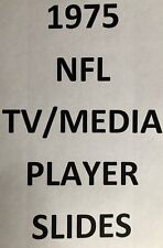 1975 NFL TV Media SLIDES for sale $4.99 each.  You Pick!!!  Many Teams Available