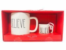 Rae Dunn By Magenta Believe Mug And Mini Mug Ornament Ceramic Set Christmas Gift