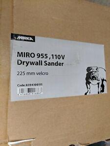 Mirka Miro 955-110v- DryWall and Ceiling Sander-225mm hook & loop- 1ct