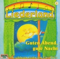 LIEDERLAND 4 - GUTEN ABEND,GUTE NACHT  CD 18 TRACKS KINDER-LIEDER NEU