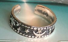 Sterling Silver .925 Toe Ring~ Moons N Stars~ Oxidixed Shade $7.99 All Sterling