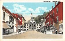 Pomeroy Ohio business district on Court Street antique pc (Z10756)