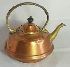 Beautiful Vintage Copper Kettle with Brass Handle