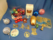 Vintage Christmas tree ornaments 50 pcs balls Santa angels Raggedy Ann & Andy