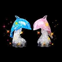 3D cristal Dauphin puzzle coeur blocs de construction jouet d'apprentissage