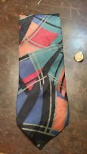 Bugatti Black Red Green Abstract Artistic Designer Mens Necktie Free Shipping