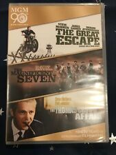 The Great Escape/The Magnificent Seven/The Thomas Crown Affair (Dvd, 2014,.