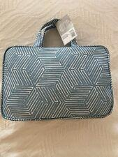 Sonia Kashuk sea blue/white weekender bag (cosmetics/toiletries)