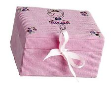 Pink Corduroy Ballet Trinket Jewellery Box Christmas Stocking Gift JB-7529