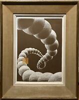 Tableau Technique mixte 20ème XXème Abstraction Art cinétique Art Moderne Rare
