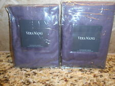 New Vera Wang 2 Standard Shams Couvre-Oreiller Bouquet  Purple