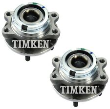Pair Set 2 Front Timken Wheel Bearing And Hub Kits for Nissan Murano Quest FWD