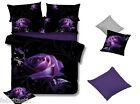 PURPLE ROSE Queen/King/Super King Size Bed Quilt/Doona/Duvet Cover/Sheet Set
