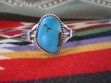 Large Vintage  Navajo Native American Indian Turquoise Sterling Silver Bracelet