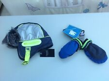 Next baby boys trapper hat and thermal gloves age 3-9 months