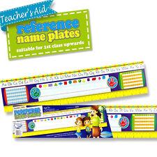 Alphabets nom plaques ABC Chiffres professeur Fournitures classe école Papeterie