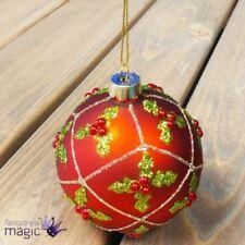 Adornos de bola de vidrio color principal rojo para árbol de Navidad