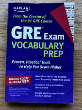 GRE Exam Vocabulary Prep by Kaplan Softcover Book
