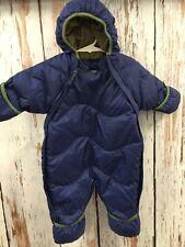 REI Infant Snowsuit Jacket Goose Down Sz 3 M Months Navy Green