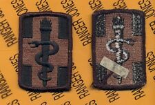 US Army 330th Medical Brigade OD Green & Black BDU uniform patch