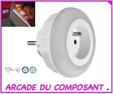 VEILLEUSE A LED CREPUSCULAIRE - COULOIR - PALIER (ref 15182-1) poids 300g